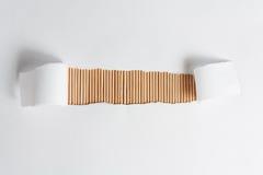 Weißer Rahmen mit hölzerner Bambusbeschaffenheit stockbild
