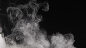 Weißer Rauch auf schwarzem Hintergrund stock video