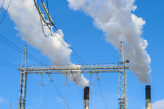 Weißer Rauch vom Kamin Lizenzfreies Stockfoto