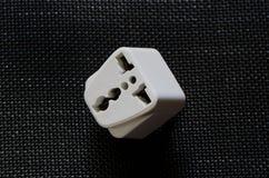 Weißer Reise-Energie-Adapter Lizenzfreie Stockbilder