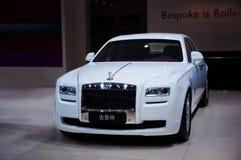 Weißer Rolls- Roycegeist Stockfotos