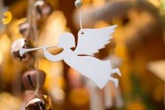 Weißer romantischer Engel lizenzfreie stockfotografie
