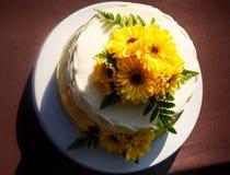 Weißer sahniger köstlicher Kuchen Lizenzfreie Stockfotografie
