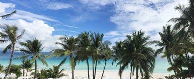 Weißer Sand-Strand Boracays Stockbilder