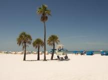 Weißer sandiger Strand in clearwater Florida Stockbild