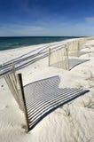 Weißer Sandstrand Stockbild