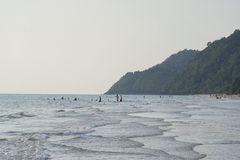Weißer Sandstrand, KOH Chang, Thailand Stockbild