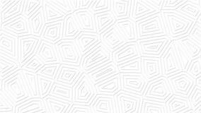 Weißer sauberer abstrakter geometrischer Hintergrund Dünne Linien Minimalistic bewegen sich endlos lizenzfreie abbildung