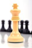 Weißer Schachkönig lizenzfreies stockbild
