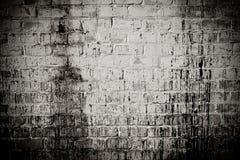 Weißer schmutziger Wandhintergrund des Ziegelsteines Lizenzfreie Stockfotos