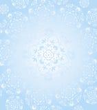 Weißer Schnee flacks Kaleidoskophintergrund Stockbild