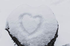 Weißer Schnee mit ertrinkt Innerform Lizenzfreies Stockbild