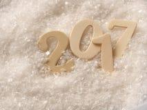 Weißer Schnee mit Nr. 2017 Stockfoto