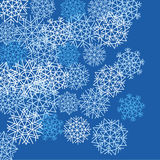 Weißer Schneeflockehintergrund lizenzfreie abbildung