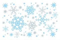 Weißer Schneehintergrund Stockbild