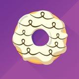 Weißer Schokoladen-Donut Lizenzfreie Stockfotografie