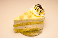 Weißer Schokoladen-Macadamia-Kuchen Stockfotos