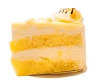Weißer Schokoladen-Macadamia-Kuchen Stockbild