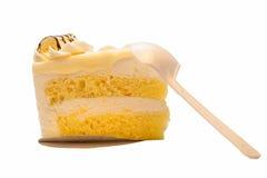 Weißer Schokoladen-Macadamia-Kuchen Lizenzfreies Stockfoto