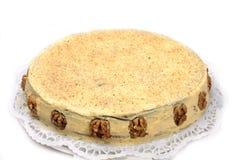 Weißer Schokoladenkuchen Stockfoto