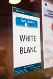 Weißer Sicherheitscode-Alarm Europäisches Parlament Lizenzfreie Stockfotos