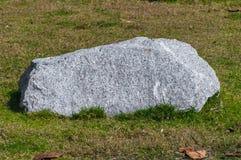 Weißer Stein auf dem Garten mit Gras stockfotos