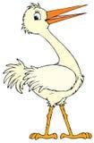 Weißer Storch (Vektorc$clipkunst) Stockfotografie