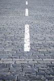 Weißer Streifen auf Steinblöcke Lizenzfreies Stockbild