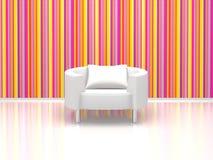 Weißer Stuhl Lizenzfreies Stockfoto