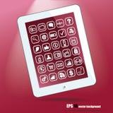 Weißer Tablette-PC Stockbilder