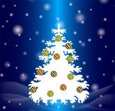 Weißer Tannenbaum stockbild
