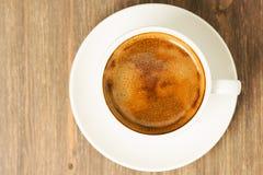 Weißer Tasse Kaffee Stockfotos