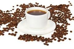 Weißer Tasse Kaffee Stockbild