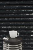 Weißer Tasse Kaffee Stockfotografie