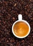 Weißer Tasse Kaffee, 12 Uhr Lizenzfreie Stockbilder