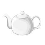 Weißer Teekannenvektor Stockfoto