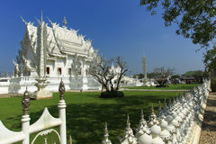Weißer Tempel in Chiang Rai Stockfotografie