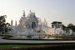 Weißer Tempel in Thailand Lizenzfreies Stockfoto