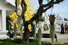 Weißer Tempel Wat Rong Khun Stockbilder