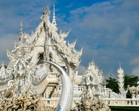 Weißer Tempel Wat Rong Khun Stockfotografie
