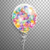 Weißer transparenter Helium Ballon mit Ballonen nach innen Bereifte Parteiballone für Ereignisdesign Parteidekorationen für Bi Stockfoto