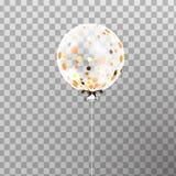 Weißer transparenter Heliumballon in der Luft Bereifte Parteiballone für Ereignisdesign Parteidekorationen für Geburtstag, Lizenzfreie Stockfotos