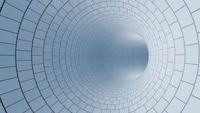 Weißer Tunnel Stockfotografie