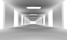 Weißer Tunnel 3d übertragen Lizenzfreie Stockfotos