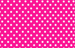 Weißer Tupfen mit rosa Hintergrund Stockfoto