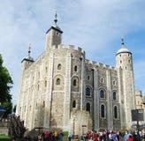 Weißer Turm am Tower von London stockbilder