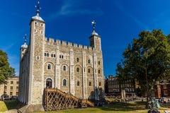 Weißer Turm von Tower von London stockbilder
