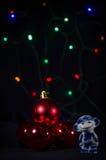 Weißer und blauer Affe Symbol des neuen Jahres Stockfotos
