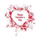 Weißer und roter glücklicher Valentinsgrußtagesgutschein Lizenzfreie Stockbilder