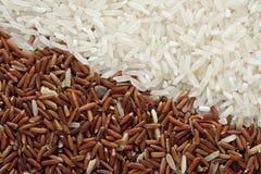Weißer und roter Reis Stockbild